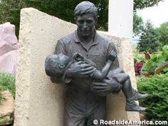 Flight 232 Memorial, Sioux City, Iowa - My stepdad was on call that day and saved many lives that day.