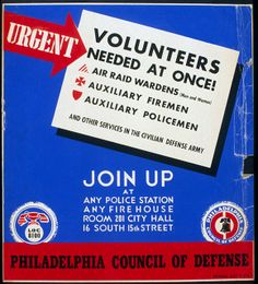1941 Civil Defense Poster