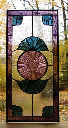 Wow! This is amazing!  stained glass panel window Tulip Flower by Barbarasstainedglass, $175.00