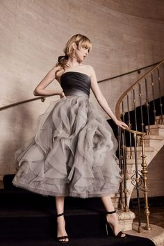 Marchesa ups the glamour in frotheir gowns, classic daywear, and more embellishments in their ostentatious Fall 2019 collection. Marchesa, Fashion Mode, Moda Fashion, Fashion Show, Fall Fashion, Style Fashion, Womens Fashion, Beautiful Party Dresses, Beautiful Gowns