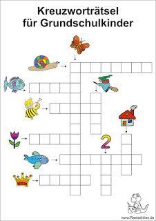 Picture puzzle for elementary school kids - Schule & Schreibtisch - Bildung Primary Education, Primary School, Pre School, Special Education, Elementary Schools, School Kids, Science Education, Material Didático, Picture Puzzles