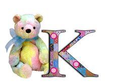 alphabet, teddy alphabet, a-z, patchwork letters, free alphabet Cute Alphabet, Alphabet And Numbers, Letter K, Create Words, Card Making, Teddy Bear, Clip Art, Symbols, Scrapbook