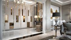Wall Decor Design, Foyer Design, Wardrobe Interior Design, Home Interior Design, Classic Interior, Modern Interior, Classic Living Room, Master Bedroom Design, Living Room Designs