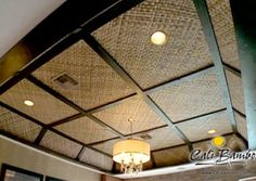 Cali Bamboo Featured on The Vanilla Ice Project Season 3 - Cali Bamboo Bamboo Ceiling, Fabric Ceiling, Interior Ceiling Design, Cafe Interior Design, Bamboo House Design, Philippine Houses, Estilo Interior, Bamboo Architecture, Dropped Ceiling