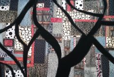 """""""Branch Lines"""" by Ingrid Ellis. Framed, no glass. Textile Art, Collages, Mixed Media, Textiles, Quilts, Stitch, Frame, Glass, Wall"""