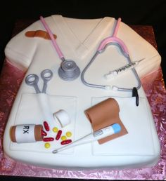 nurse scrubs cake