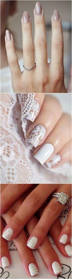 Wedding nail design ideas #wedding #bridalfashion #bridalnails