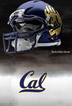 University of California at Berkeley ( Cal ) Golden Bears - concept football helmet