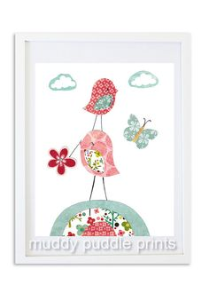 Nursery art Girls room prints kids room wall by MuddyPuddlePrints, $14.00
