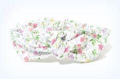 Bandeau cheveux à nouer en tissu à fleurs, headband à nouer en coton taille…