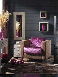 Colores para Decorar: Con que colores combina una pared gris en salones