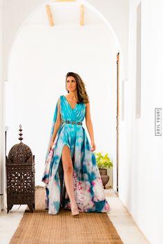 bleu ocean Dress in Marrakech