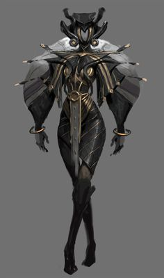 ArtStation – Sketch, Yuan Fang – Art Drawing Tips Fantasy Character Design, Female Character Design, Character Design Inspiration, Character Concept, Character Art, Akali League Of Legends, Warframe Art, Armor Concept, Creature Concept