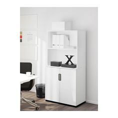 GALANT Storage combination with doors, white white 31 1/2x63