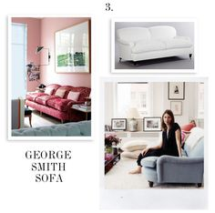 A couple weeks ago we shared our favorite sofa-chair pairing for the tuxedo-style sofa (you see that post here). Today we want to talk about the English roll arm sofa and what chairs look great wit… My Living Room, Living Room Decor, Sofa Furniture, Sofa Chair, Living Styles, Chair Design, Interior Inspiration, Family Room, Interior Design
