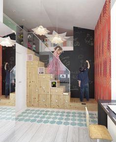Kreative Ideen zum Kinderzimmer einrichten-praktische Aufbewahungsmöbel