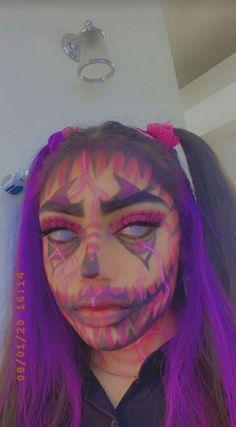 Cute Clown Makeup, Cool Halloween Makeup, Scary Makeup, Halloween Costumes, Cool Makeup Looks, Creative Makeup Looks, Pretty Makeup, Skeleton Makeup, Aesthetic Makeup