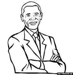 barack obama coloring page coloring pages for free pinterest barack obama - Barack Obama Coloring Book