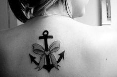 Anchor / Bow Tattoo - would want it much smaller