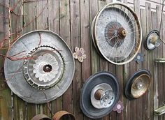 recycled yard art