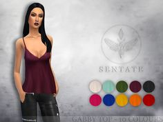 The Sims Resource: Gabby Top by Sentate • Sims 4 Downloads