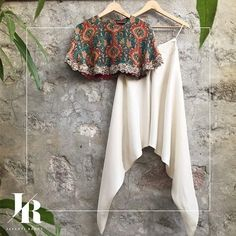 jayantireddylabel: The simplicity of white dhoti pants brings to life the…