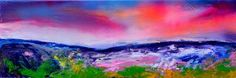 """Saatchi Art Artist SOOS ROXANA GABRIELA; Painting, """"New Horizon 63 - 120x40 cm, Large Modern Ready to Hang Abstract Landscape, Seascape, Sunset, Mountainscape Abstract Painting"""" #art"""