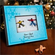Personalized Le Bleu Snowflake Picture Frame