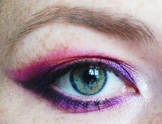#urbandecay #electric #pink #purple #makeup #eyes #black #catflick