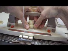 Tejido a máquina, muestrario de crochet Knittax. Punto Nº 2 - YouTube