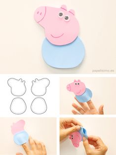 Peppa Pig is actually a British toddler cartoon telly line focused and that is generated Pig Crafts, Preschool Crafts, Felt Crafts, Disney Diy, Peppa Pig Familie, Aniversario Peppa Pig, Art For Kids, Crafts For Kids, Pig Birthday Cakes