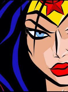 Wonder Woman Pictures, Wonder Woman Art, Wonder Woman Comic, Wonder Women, Dc Comics Art, Comics Girls, Pop Art Drawing, Art Drawings, Superhero Pop Art