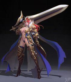 Daaam Warrior Dead Man, Female Characters, Fantasy Characters, Anime Characters, Anime Art, Fantasy Women, Fantasy Girl, Anime Fantasy, Fantasy Armor