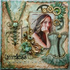 Page Kit & Video Tutorial {The Scrapbook Diaries} (Such a pretty mess) Heritage Scrapbooking, Mixed Media Scrapbooking, Scrapbooking Ideas, Altered Canvas, Altered Art, Scrapbook Page Layouts, Scrapbook Cards, Mixed Media Canvas, Mixed Media Art