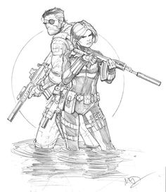 Black Widow and Nick Fury by Max-Dunbar on DeviantArt