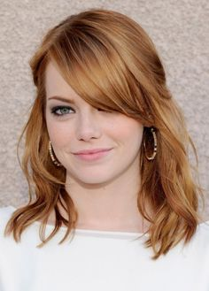 so I'm totally thinking of dying my hair a strawberry blonde. . .a little lighter than this I think?