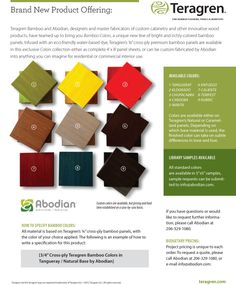 Teragren Bamboo Colors Flooring Options, Flooring Ideas, We Work Remotely, Eco Friendly Flooring, Sustainable Building Materials, Bamboo Panels, Custom Cabinetry, Product Offering, Green Building