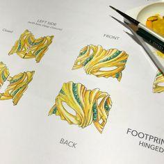 Folds of gold encase custom cut emeralds in this bespoke cuff. #design #illustration #gouache #rendering #bespoke #gold #emerald #finejewelry #highjewelry #cuff #bangle #craftsmanship #traditionalskills #hongkong #atelier