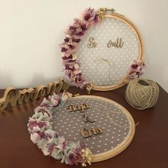 Names of girls # girls # Names - Babyzimmer Ideen Name Of Girls, Home Crafts, Diy And Crafts, Diy Wedding, Wedding Gifts, Wedding Lace, Decoration Buffet, Deco Champetre, Embroidery Hoop Crafts