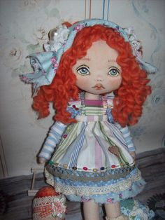 Friderica Doll - Doll - Textile Doll - Handmade Doll- Toys -  Home Decor - Art Doll - by TrixiCreation on Etsy