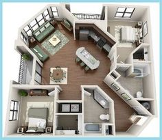 Home Layout Plans 854417360540364123 - 34 trendy apartment layout ideas floor plans living spaces Source by baierame Sims House Plans, Small House Plans, House Floor Plans, Casas The Sims 4, Apartment Floor Plans, Apartment Layout, Bedroom Apartment, House Layouts, Sims 4 Houses Layout