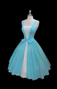 Vintage 1950's 50s Blue by CalendarGirlVintage, reminds me of Belle