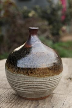Mid Century Alkaline Glaze Pottery Vase by FieldworkGeneral, $90.00