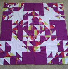 This summer, my guild began a crayon challenge. At one meeting, we had to choose 3 random colors from a bag and make a quilt. Seems dau...
