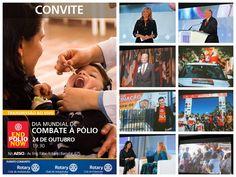 Rotary Club de Indaiatuba Cocaes: Dia mundial do combate a Poliomielite Rotary Club, Baseball Cards, Movies, World Days, Films, Cinema, Movie, Film, Movie Quotes