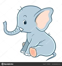 Image result for cute baby elephant sitting