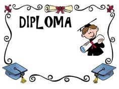 Diploma Diy And Crafts, Arts And Crafts, End Of School Year, Diy Invitations, Happy Kids, Certificate, Teaching Resources, Scrapbook Pages, Art Projects