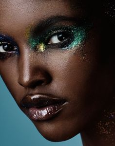 """Glitter Bomb""  Amilna Estevão photographed by Jason Kim for Models.com  Makeup: Morgane Martini"