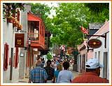 """On old """"St. George Street"""", in the heart of historic St. Augustine, charming shops, museums, historic buildings and beautiful views are on every corner. (St. Augustine, Florida)"""