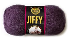 One of my favorite yarns to work with. Jiffy  Yarn from Lion Brand Yarn